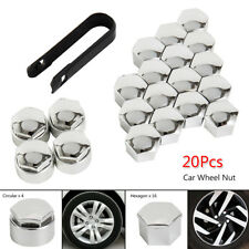 20X 17mm ALLOY WHEEL NUT BOLT COVERS CAPS UNIVERSAL FOR VW POLO GOLF FORD FOCUS