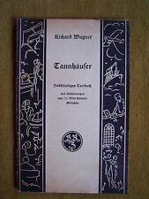 """""""Tannhäuser und der Sängerkrieg auf Wartburg"""" von Richard Wagner (1928)"""