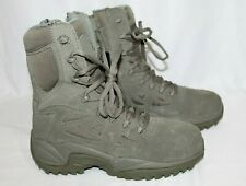 NEW Reebok RB8990 Rapid Response Tactical Boots with Zipper Sage Green Size 4.5M