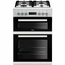 Beko KDDF653W Free Standing A/A Dual Fuel Cooker with Gas Hob 60cm White New