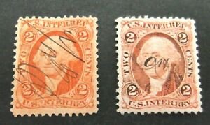 US-2 x Two Cent Inter. Rev. issues-Used