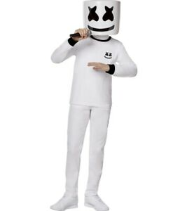 Marshmello Youth Child Costume Boys Girls Size M Medium (8-10) NEW