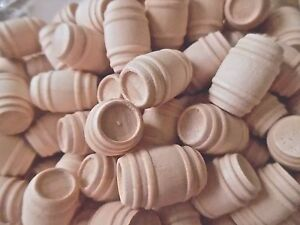 Miniature Wood Barrel for Doll's House or Toy Train Cargo X 10, MULTI-BUY