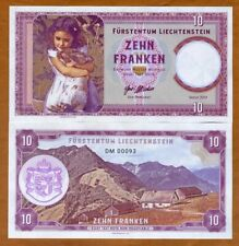 Liechtenstein 10 Francs 2019 Private issue Girl with a rabbit, Limited DM-Prefix