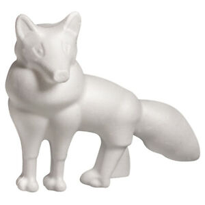Single 15cm Fox or Wolf Polystyrene Shape to Decorate