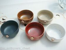 Japanese 5 sake bowls with ceramic button seal, new in box, different colors[2]