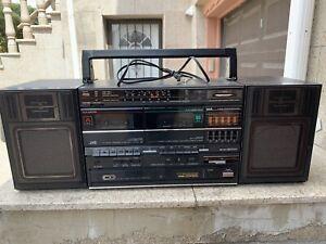 Vtg JVC PC-W310 Boombox Stereo Radio CD & Cassette Player Recorder Works RARE!