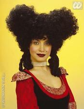 Ladies Black Baroque Style Wig Dutchess Pantomime Dame Fancy Dress
