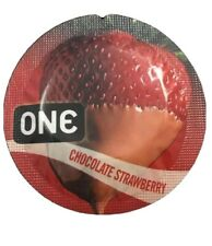 ONE FLAVOR WAVES Chocolate Strawberry Condoms 50 Pack Expires 2024