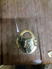 A  Brass, Padlock Shaped, Key Rack .