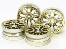 Tamiya 54736 1/10 RC On-Road Car Plated Medium-Narrow Mesh Wheels(Gold,Offset+2)