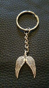 ANGEL WINGS, Keyring. Beautiful, Homemade Key chain. Gift Idea. Tibetan Silver