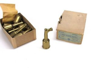 NOS VINTAGE SAFE PADLOCK & HARDWARE PULL DOWN HOOK, CAST IRON, SATIN BRASS 03064