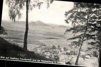 Blick auf Gasthaus Freudenthal u. Wachsenburg b. Arnstadt Ansichtskarte AK PK