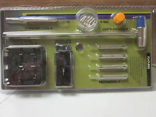 WATCH REPAIR KIT 21pc HAMMER PIN PUNCHES LINK REMOVER SPRING BAR TOOL BAND BLOCK