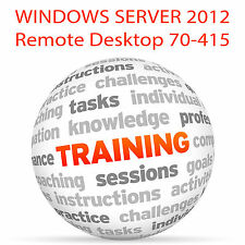 WINDOWS SERVER 2012 Remote Desktop 70-415 - Video Training Tutorial DVD