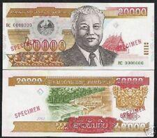 LAO LAOS 20000 20,000 KIP P36 2002 *SPECIMEN UNC HYDRO ELECTRIC MONEY BANK NOTE