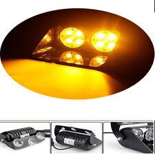 8 LED 24W Amber Car Emergency Warning Hazard Beacon Strobe Dash Flashing Light