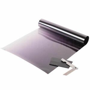 20 X 150cm BLACK SUN VISOR TINT FILM STRIP KIT CAR VAN WINDSCREEN UV SHADE