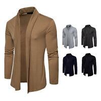 Men's Casual Sweater Coat Stylish Knitted Cardigan Jacket Slim Long Sleeve