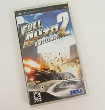 Full Auto 2 Battlelines Sony PSP PlayStation Portable Game Complete