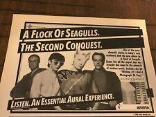 1983 Vintage 5.5X8 Album Promo Print Ad A Flock Of Seagulls 2Nd Conquest Listen