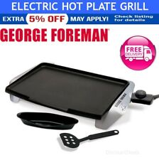George Foreman Electric Hot Plate Grill Cooking Nonstick Griddle Teppanyaki
