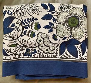Williams-Sonoma Blue Floral Tablecloth 70 x 90