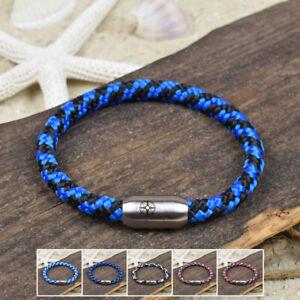 ❦ Armband FINN Segeltau 6 mm Surfer Magnetverschluß Farbe & Größe wählbar ❦