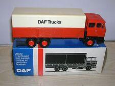 Lion car DAF werbemodell nº 66-camión con plataforma y lona en Box - 70er años