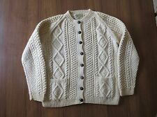 Cardigan An Irish Traditional Hand Knit Chunky Wool Sweater Republic of Ireland
