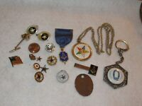 Vintage Masonic Masons Jewelry Pins Medals & More (373E)