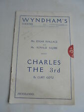 1931 CHARLES THE 3rd WYNDHAMS THEATRE PEGGY ASHCROFT PROGRAMME LIBERTY ADVERT
