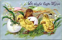 1908 Tuck Easter Postcard 112 Chicks BLOUNTSVILLE INDIANA POSTMARK JF