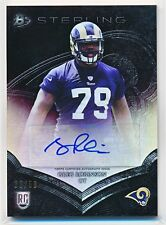 GREG ROBINSON 2014 BOWMAN STERLING GOLD REFRACTOR AUTOGRAPH AUTO RC /50 (RAMS)