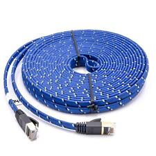Ethernet câble Cat7, 10 Gigabit plat RJ45 bleu 10m