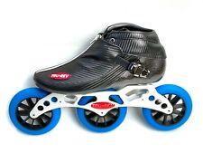 Trurev 2021 Pro Inline Speed Skating Skate - 3 Wheel Aluminum Frame