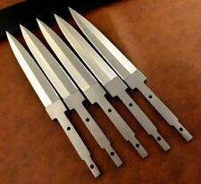Lot of 5 Handmade 420 High Carbon Steel Hunting Knife Blank Blade-Hidden Tang-C5