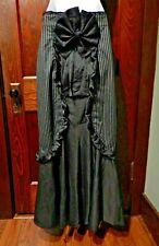 GOTHIC PINSTRIPE MERMAID SKIRT ruffle maid Steampunk Victorian halloween S 3E
