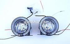 2 Universal Front Lights 12V Spot Fog Halogen Circle Lamps Car Van LED Angel eye