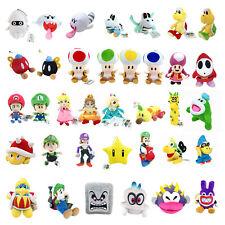 Super Mario Bros Koopa Blooper Toad Princess Waluigi Goomba Plush Toy Optional