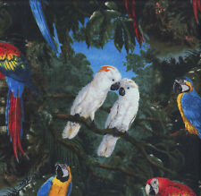 Cockatoos Macaws Birds Trees Parrots Quilting Fabric FQ or Metre *New*