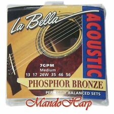 Acoustic Guitar Strings - La Bella 7GPM Med-Wt Phosphor-Bronze-Wound .013-.056