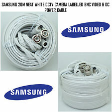 Samsung 20M blanco limpio Cctv Bnc Video y DC marcada Cable de alimentación