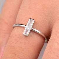 Fashion Cross Ring for Women Fashion 925 Silver Jewelry White Sapphire Size 6-10