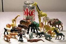 23 Animal Hard Plastic Figurines Wild, Tame, All Different Sizes!
