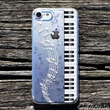 MADE IN JAPAN Soft Clear TPU Case Piano Music for iPhone 7