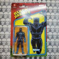 "Kenner Retro Marvel Legends BLACK PANTHER 3.75"" Inch Hasbro Action Figure 2021"