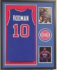 Dennis Rodman Autographed Custom Framed Detroit Pistons Jersey1 Tristar Hologram
