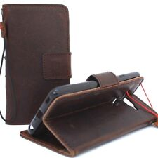 genuine leather case fit LG V40  wallet cover book holder magnetic removable ID
